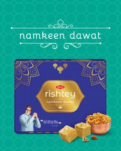 Bikaji Rishtey Diwali Sweets Pack - Namkeen Dawat Rishtey Combo