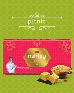 Bikaji Diwali Sweets Pack - Picnic Rishtey Combo