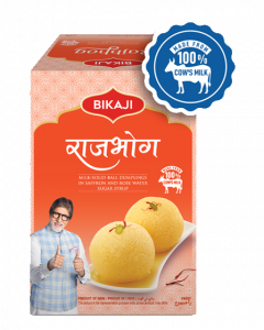 Buy Bikaji Rajbhog - Kesar Rasgulla Online at Best Price