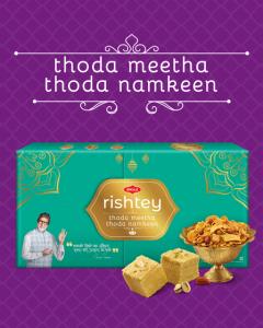 Bikaji Diwali Sweets Pack - Thoda Meetha Thoda Namkeen Rishtey Combo
