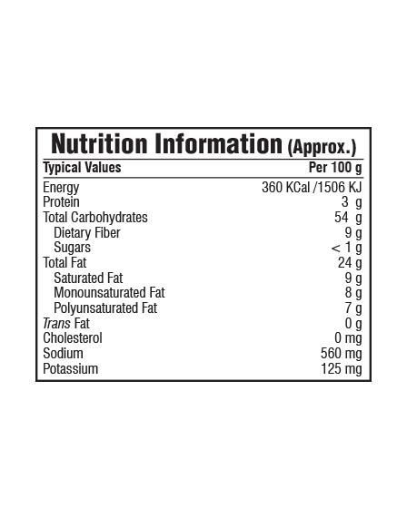 Bikaji Funkeen Cheese Balls Nutrition Facts