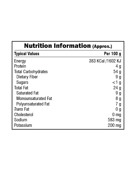 Bikaji Funkeen Corn Ring Nutrition Facts