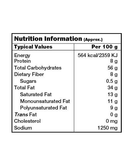 Bikaji Funkeen Moon chips Nutrition Facts
