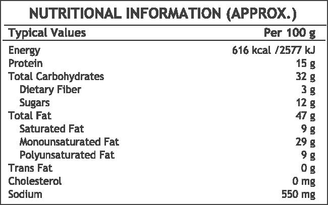 Bikaji Salted Kaju - Nutrition Facts